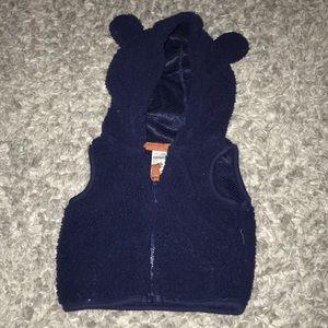 carter's fleece bear vest